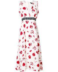 Proenza Schouler Sleeveless Long V-neck Dress - レッド
