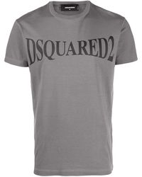 DSquared² Logo Print T-shirt - Grey