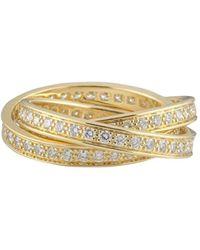 Cartier Кольцо Trinity Pre-owned Из Желтого Золота С Бриллиантами - Металлик