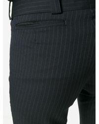 Junya Watanabe Cropped pinstripe trousers - Noir