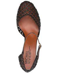 Michel Vivien Petrus Caged Leather Court Shoes - Brown