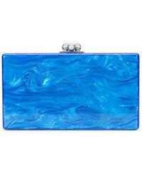 Edie Parker Clutch mit marmoriertem Effekt - Blau