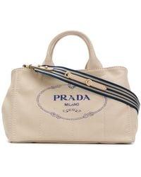 Prada - Structured Logo Tote - Lyst