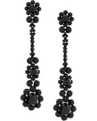 Simone Rocha Crystal beaded drop earrings - Schwarz