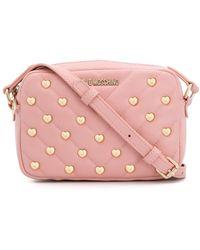 Love Moschino Heart Stud Crossbody Bag - Pink
