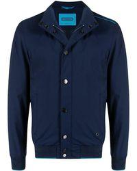 Stefano Ricci Contrasting Pipe-trim Jacket - Blue
