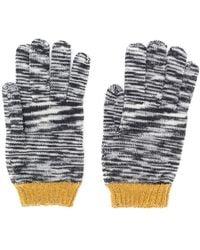 Missoni Pattern Knit Gloves - Black
