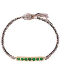 Brooke Gregson 14kt Gold 7 Emerald Bar Bracelet - Metallic