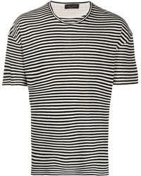 Roberto Collina ストライプ Tシャツ - ホワイト