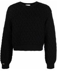 Koche Jersey de punto con cuello redondo - Negro