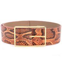 B-Low The Belt Ceinture à effet peau de serpent - Orange