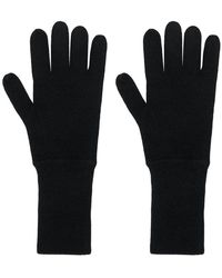 Allude Knit Gloves - Black