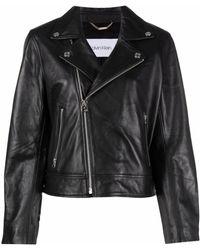 Calvin Klein レザー ジャケット - ブラック