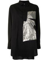 Y's Yohji Yamamoto パッチシャツ - ブラック