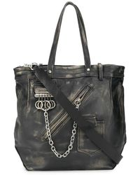 DSquared² Leather Tote Bag - Black