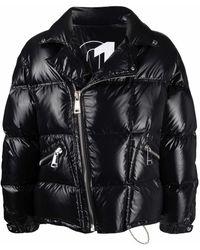 Khrisjoy Logo-print Biker-style Padded Jacket - Black