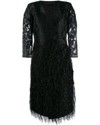 FEDERICA TOSI Fringe Embellished Party Dress - Black