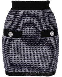 Balmain Minifalda de tweed - Morado