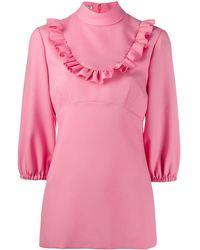 Miu Miu Ruffle-trim Blouse - Pink