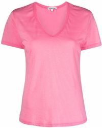 Cotton Citizen T-shirt con scollo a V - Rosa