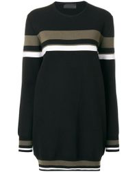 Diesel Black Gold - Stripe Detail Oversized Sweater - Lyst