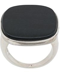 Wouters & Hendrix My Favourites Blue Eye Tiger Stone Ring - Metallic