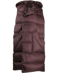 Rick Owens Sleeveless Puffer Jacket - Brown