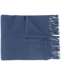 Mulberry チェック スカーフ - ブルー