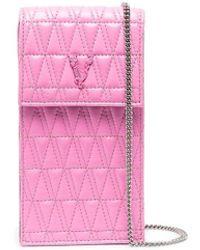 Versace Стеганая Сумка Для Телефона Virtus - Розовый
