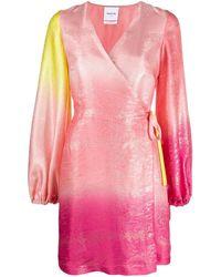 Black Coral Платье С Эффектом Градиента И Запахом - Розовый