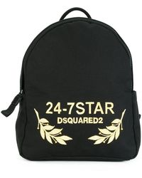 DSquared² - 24-7 Star Logo Backpack - Lyst