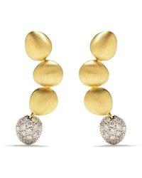 Brumani 18kt Yellow And White Gold Corcovado Diamond Earrings - Metallic