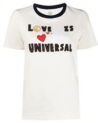 Tory Burch Футболка С Нашивкой Love Is Universal - Белый