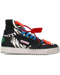 Off-White c/o Virgil Abloh Off Court 3.0 High-top Sneakers - Zwart