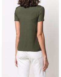 Blanca Vita Vネック Tシャツ - グリーン