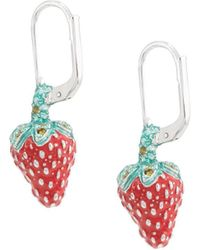 Vivienne Westwood Leonela Drop Earrings - Red
