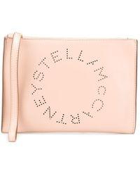 Stella McCartney Клатч С Перфорацией Логотипа - Розовый