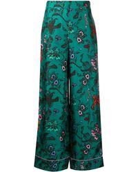 Diane von Furstenberg Pantalon ample texturé - Vert