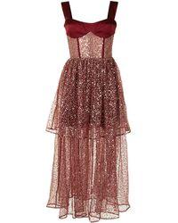 Rasario スパンコール ドレス - レッド