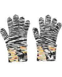Missoni Knitted Gloves - Black