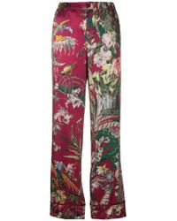 F.R.S For Restless Sleepers - Etere Printed Cotton And Silk-blend Trousers - Lyst