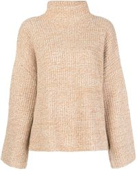 Reformation Fern Funnel-neck Sweater - Natural