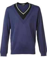 Fred Perry - Contrast Neck Jumper - Lyst