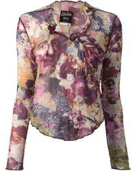 Jean Paul Gaultier - Floral Print Skirt Suit - Lyst