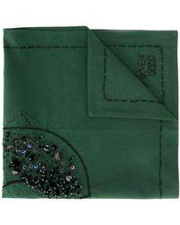Carven Mouchoir de poche à broderies - Vert