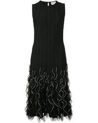 Alexander McQueen Платье С Оборками На Подоле - Черный