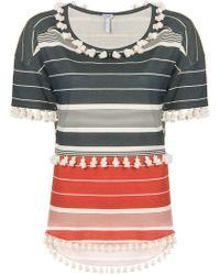Loewe - Striped Pompom T-shirt - Lyst