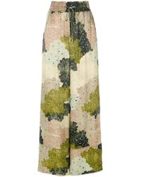 Off-White c/o Virgil Abloh - Floral-print Wide-leg Trousers - Lyst