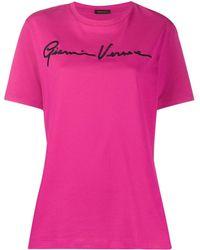 Versace - Camiseta con logo bordado - Lyst