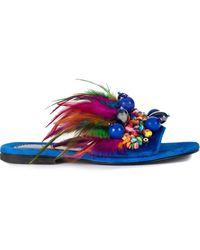 Elina Linardaki Phuket sneakers - Bleu
